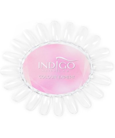 Color Chart Display Oval transparent Indigo Colour Expert (Pink)