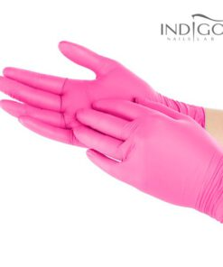 Powder-Free Nitrile Pink Gloves L