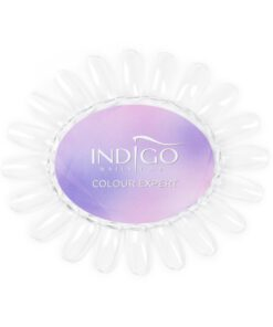 Color Chart Display Oval transparent Indigo Colour Expert (Violet)