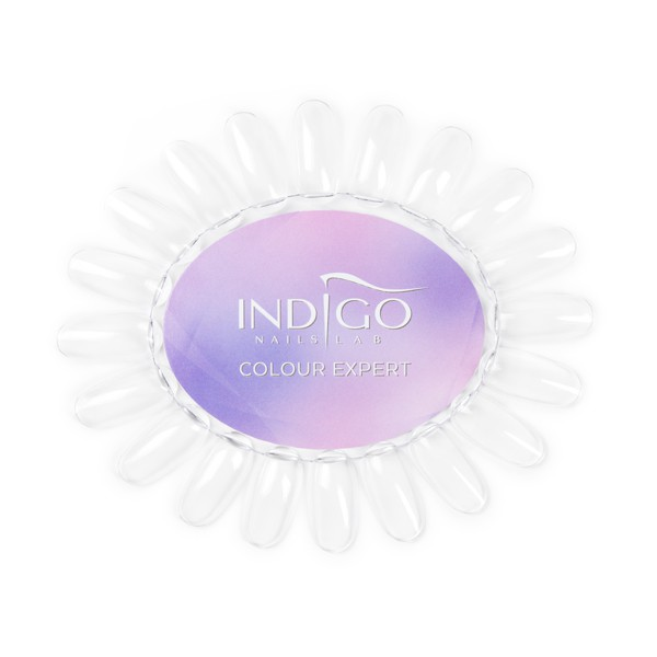 Color Chart Display Oval transparent Indigo Colour Expert (Violet)